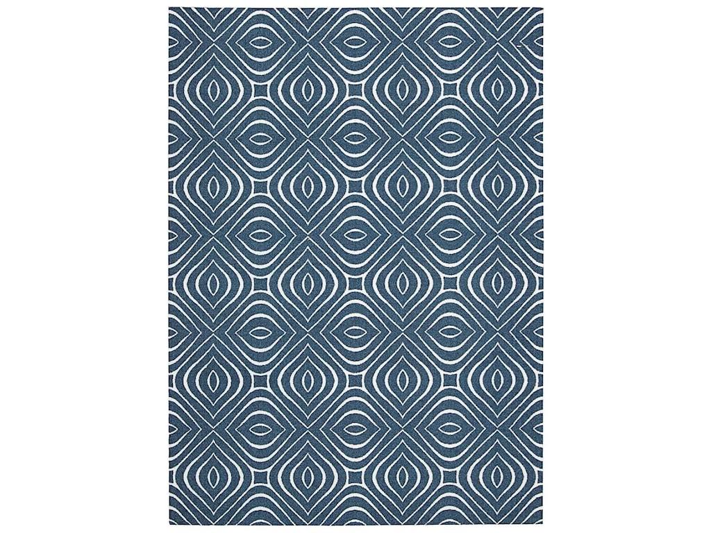 Nourison Enhance4' x 6' Cadet Blue Rectangle Rug
