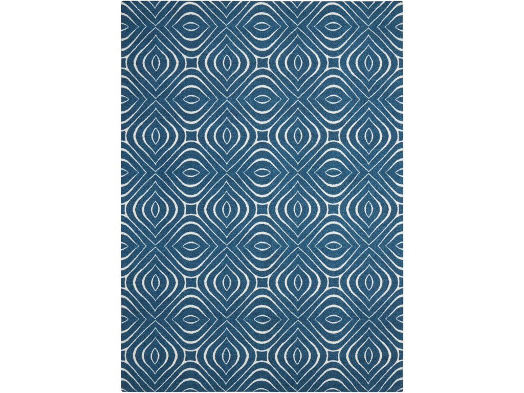 Nourison Enhance8' x 10' Cadet Blue Rectangle Rug