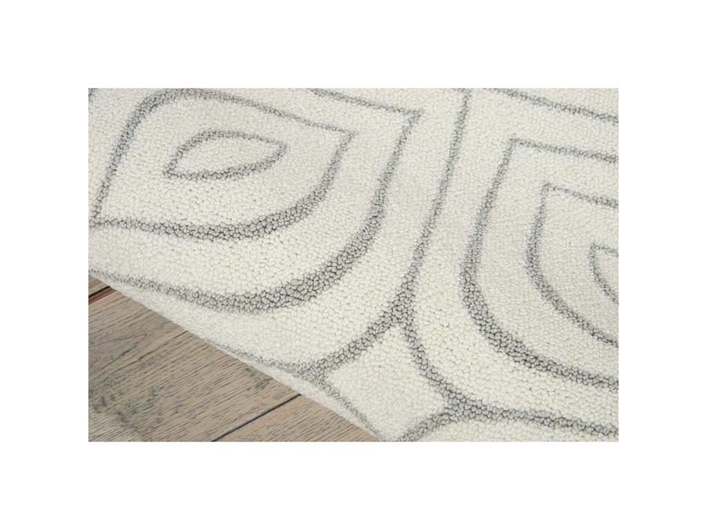 Nourison Enhance8' x 10' Iv/Grey Rectangle Rug