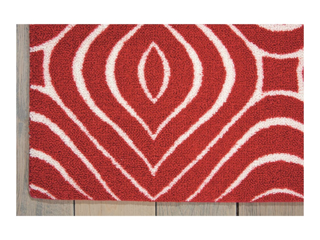 Nourison Enhance4' x 6' Paprika Rectangle Rug