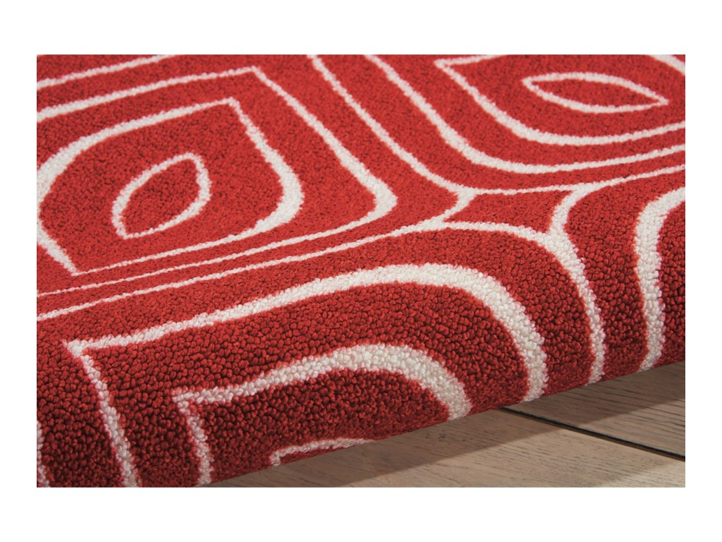 Nourison Enhance5' x 7' Paprika Rectangle Rug