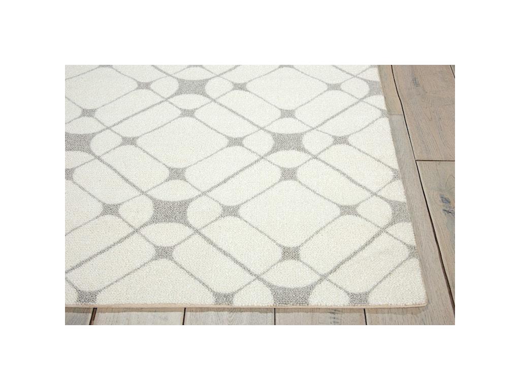 Nourison Enhance4' x 6' Iv/Grey Rectangle Rug