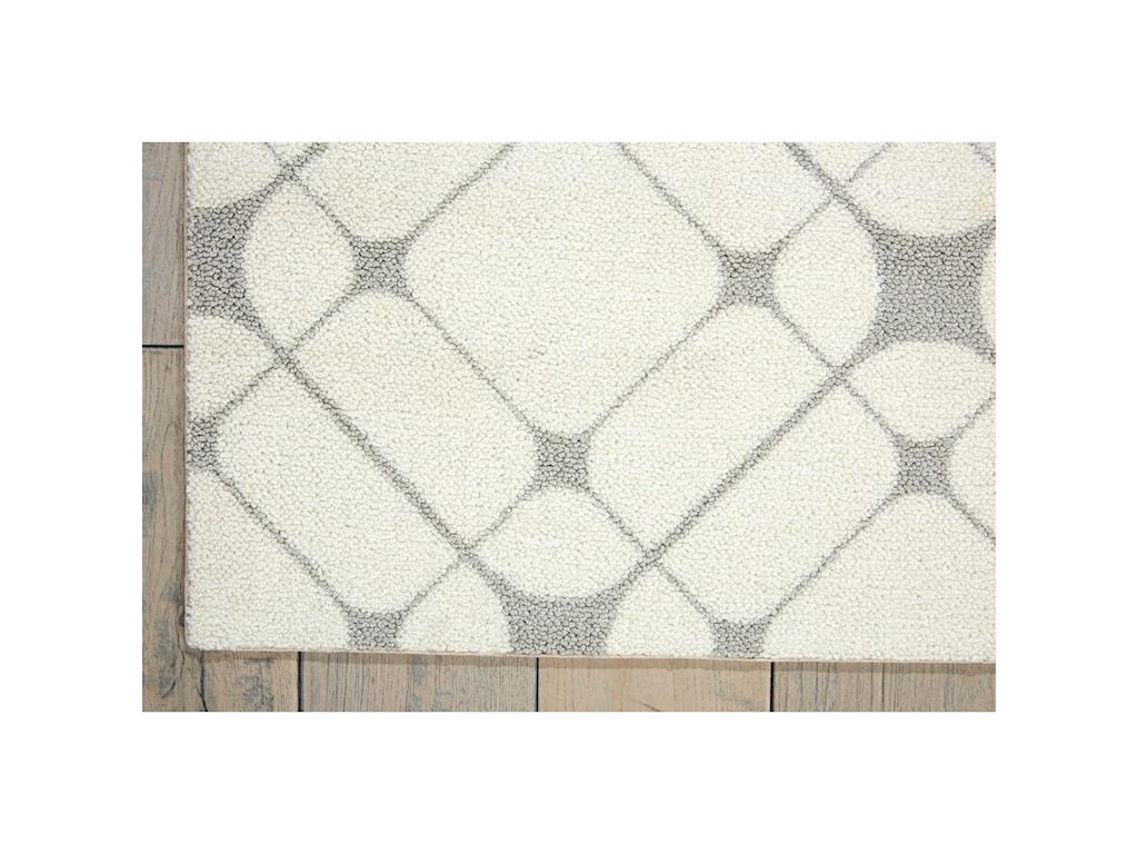 Nourison Enhance5' x 7' Iv/Grey Rectangle Rug