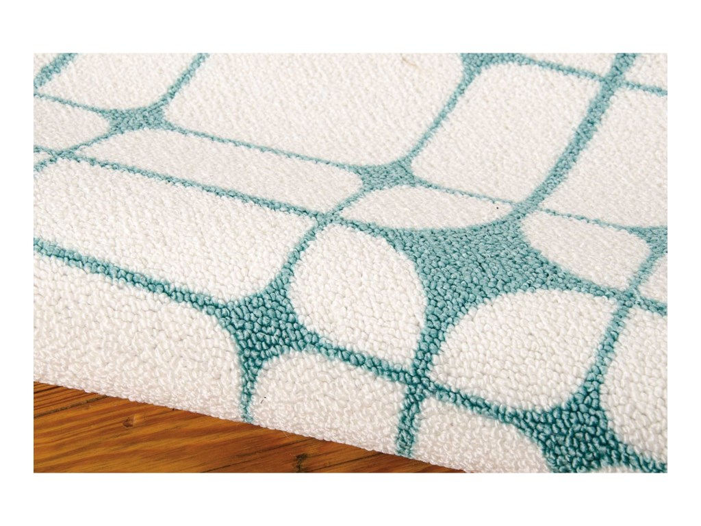 Nourison Enhance4' x 6' Ivory/Turquoise Rectangle Rug