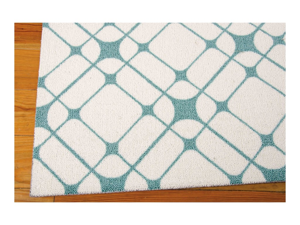 Nourison Enhance5' x 7' Ivory/Turquoise Rectangle Rug