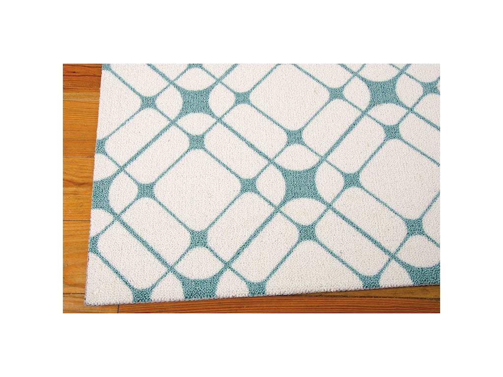 Nourison Enhance8' x 10' Ivory/Turquoise Rectangle Rug