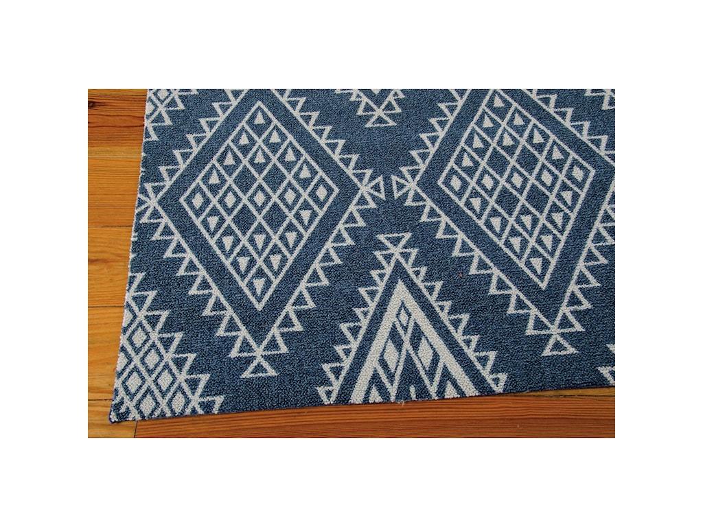 Nourison Enhance5' x 7' Blue Rectangle Rug