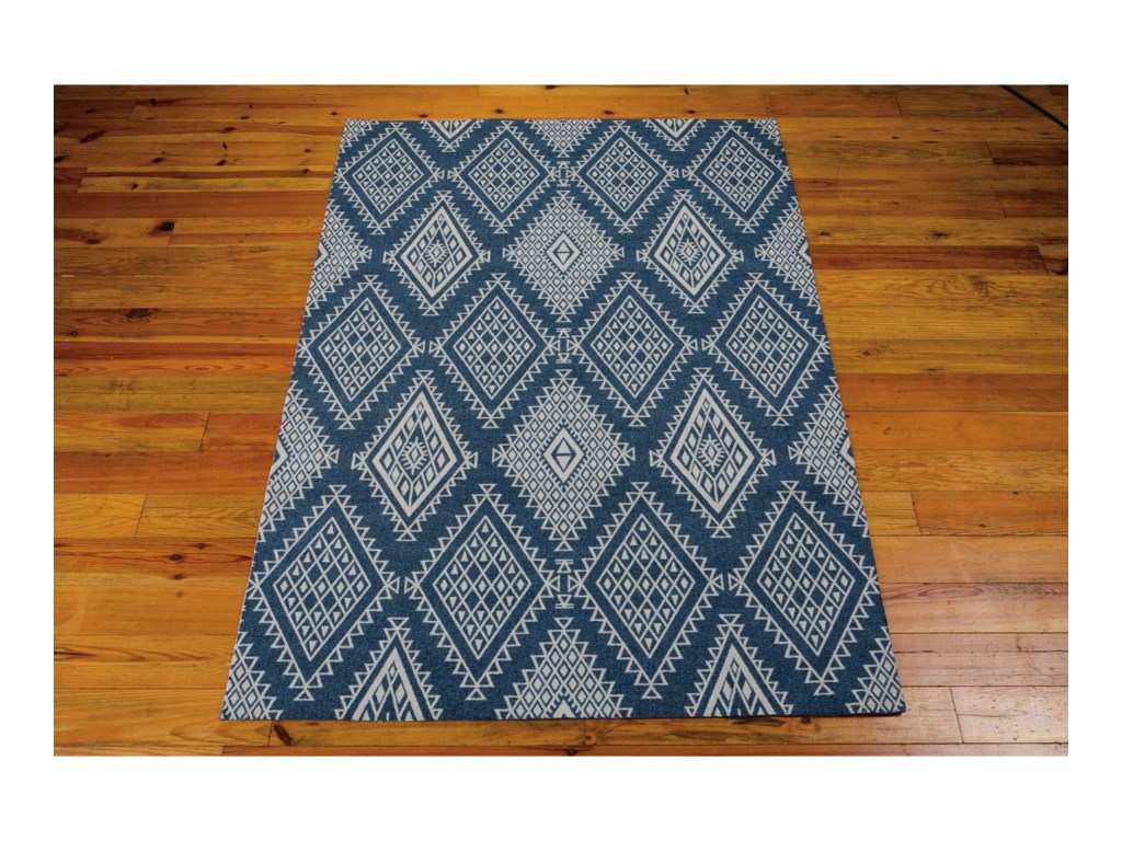 Nourison Enhance8' x 10' Blue Rectangle Rug