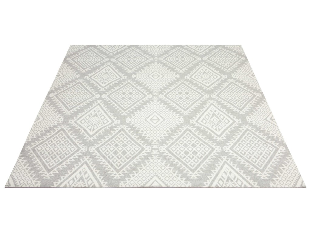 Nourison Enhance8' x 10' Grey Rectangle Rug
