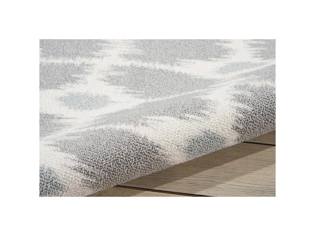 Nourison Enhance4' x 6' Grey Rectangle Rug