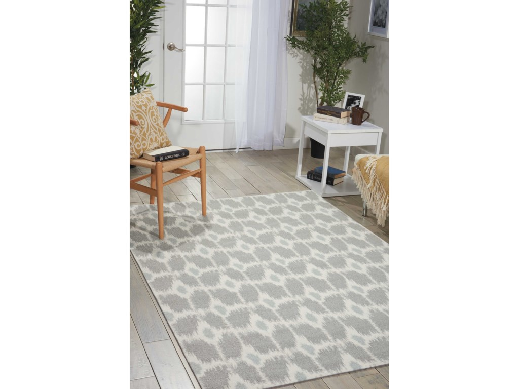 Nourison Enhance5' x 7' Grey Rectangle Rug