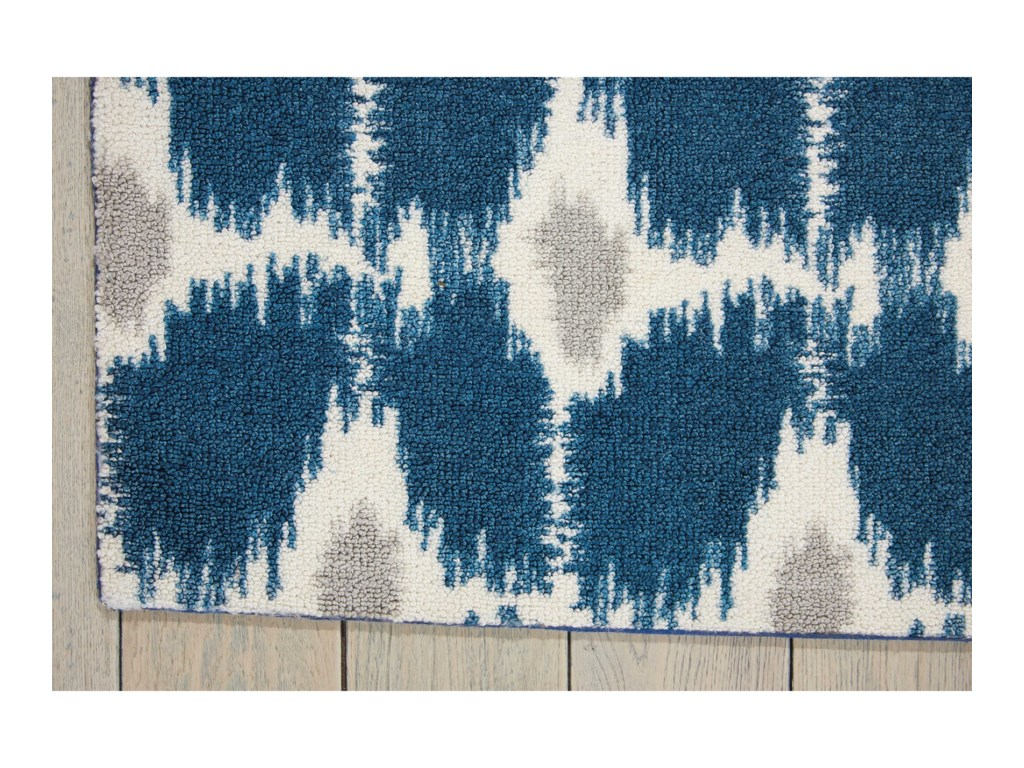 Nourison Enhance5' x 7' Navy Rectangle Rug