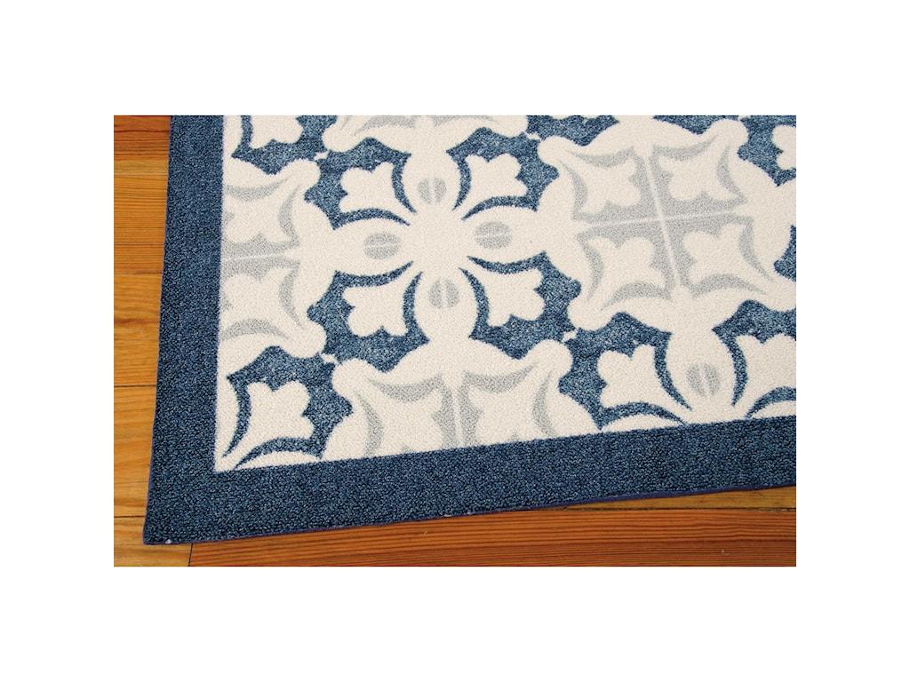 Nourison Enhance4' x 6' Blue Rectangle Rug