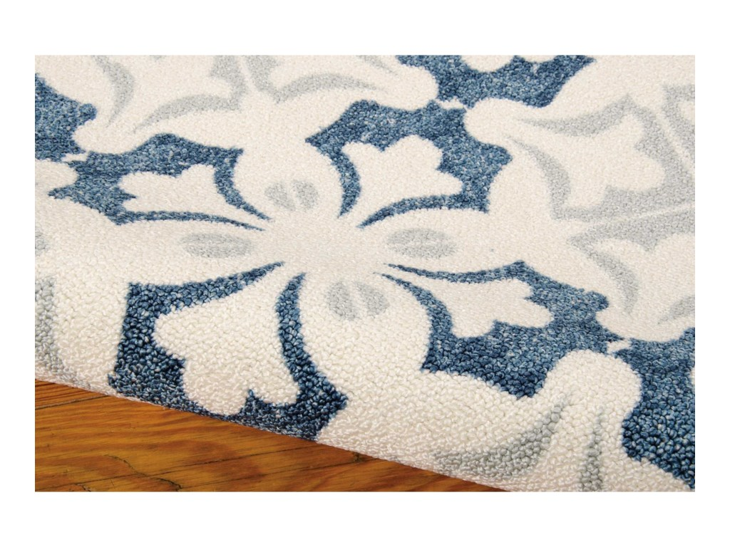 Nourison Enhance8' x 10' Blue Rectangle Rug