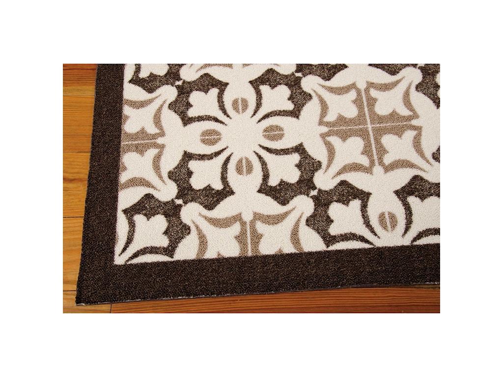 Nourison Enhance5' x 7' Brown Rectangle Rug