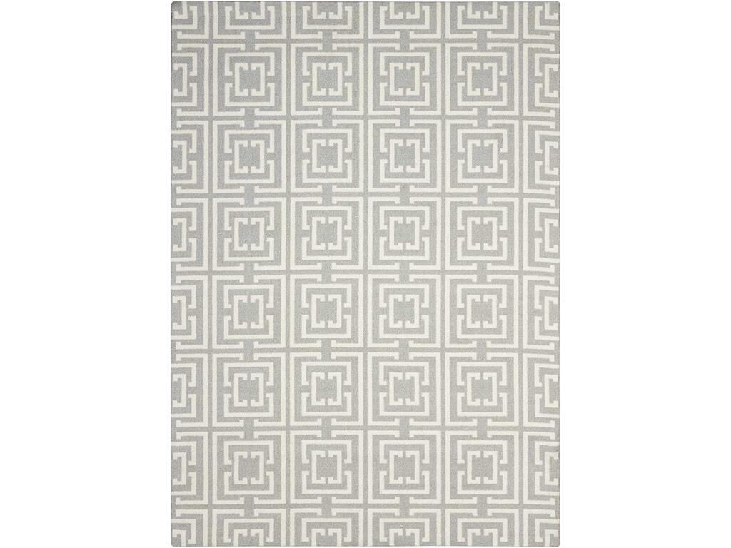Nourison Enhance4' x 6' Grey/Beige Rectangle Rug