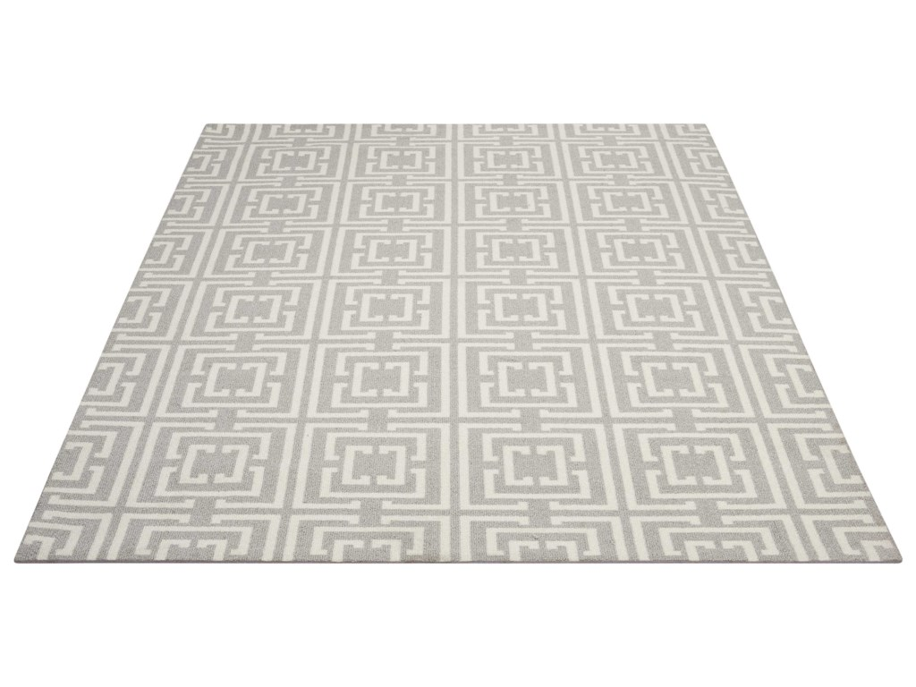 Nourison Enhance5' x 7' Grey/Beige Rectangle Rug