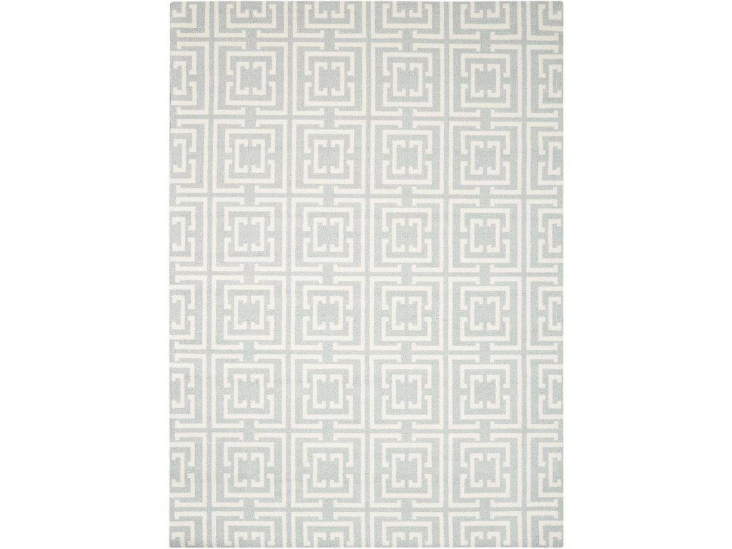 Nourison Enhance5' x 7' Light Blue Rectangle Rug