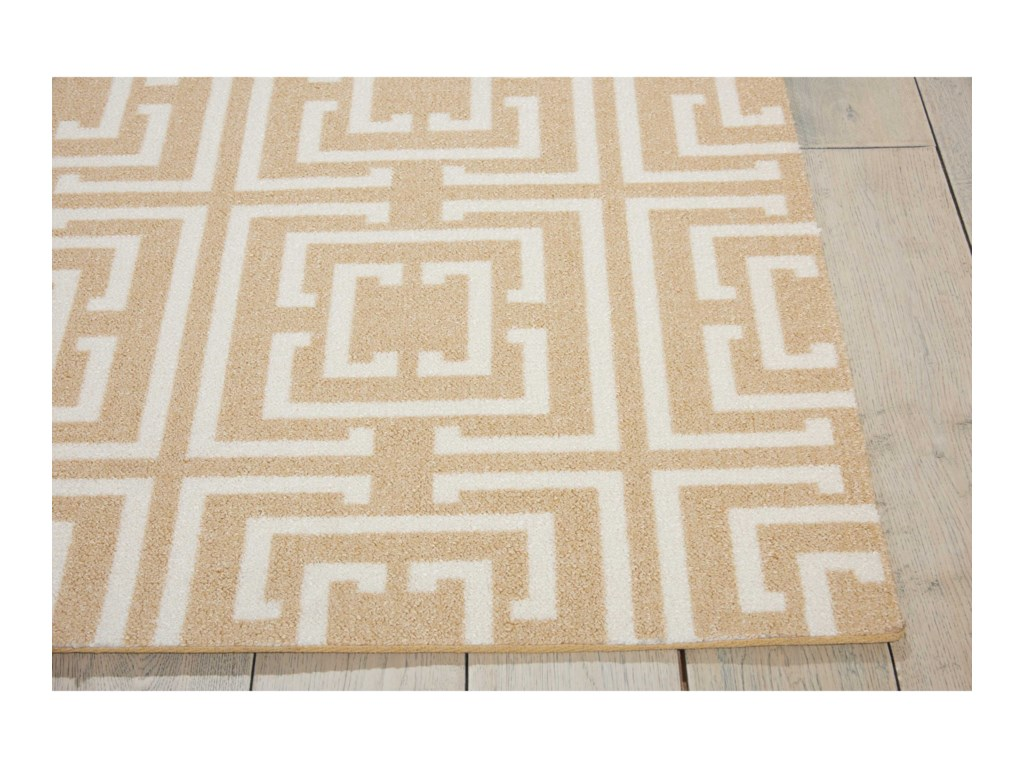Nourison Enhance5' x 7' Tan Rectangle Rug