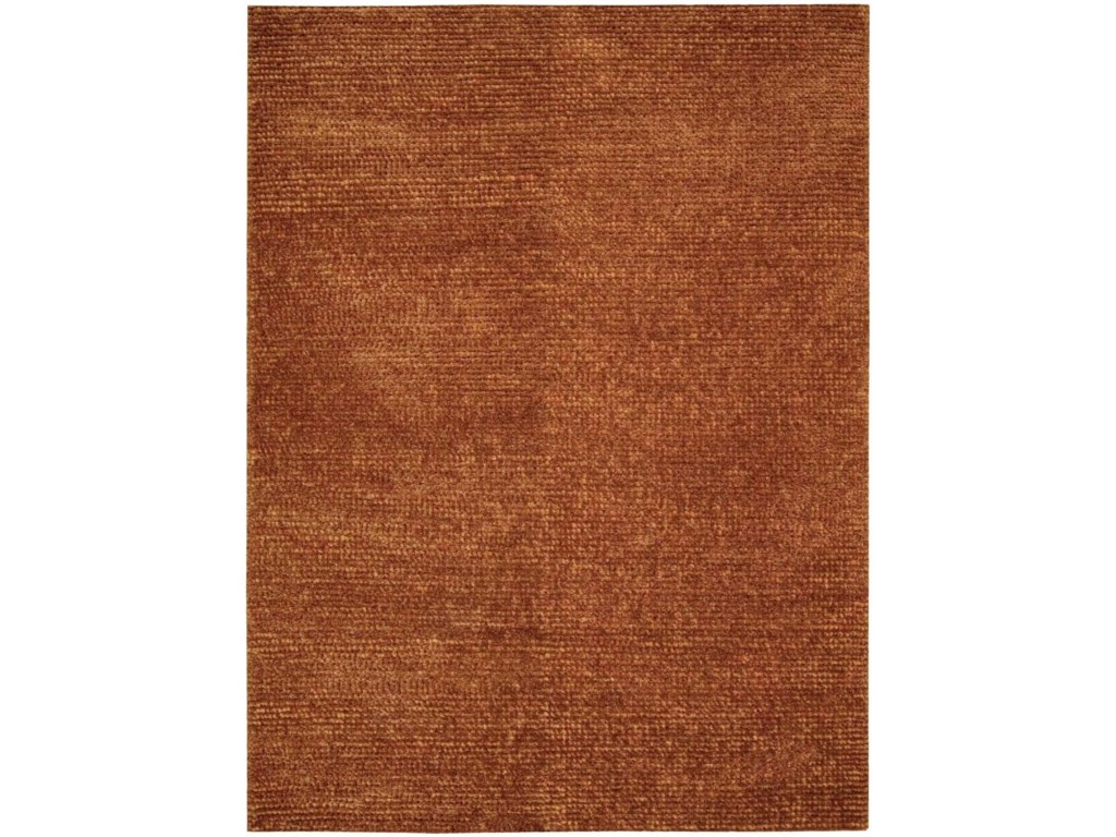 Nourison Fantasia8' x 11' Rust Rectangle Rug
