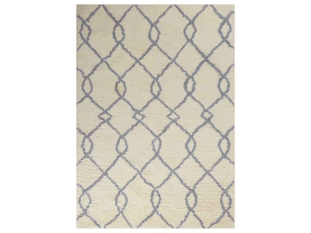 Nourison Galway5' x 7' Ivory Blue Rectangle Rug