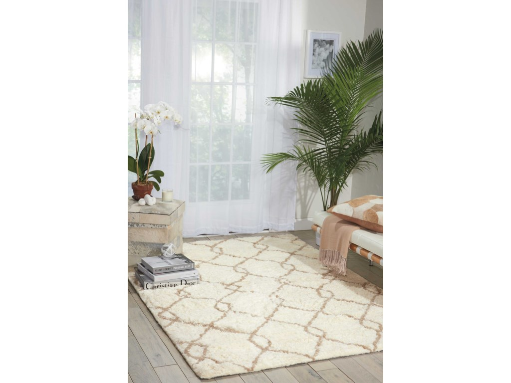 Nourison Galway5' x 7' Ivory/Tan Rectangle Rug