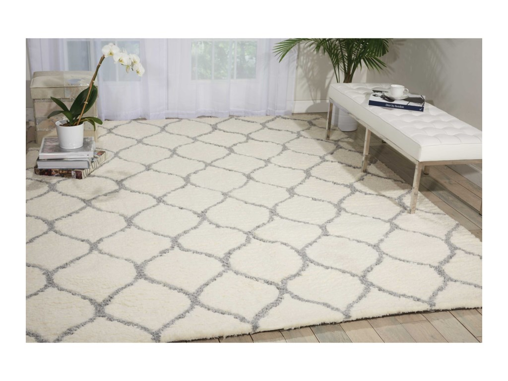 Nourison Galway5' x 7' Ivory/Ash Rectangle Rug