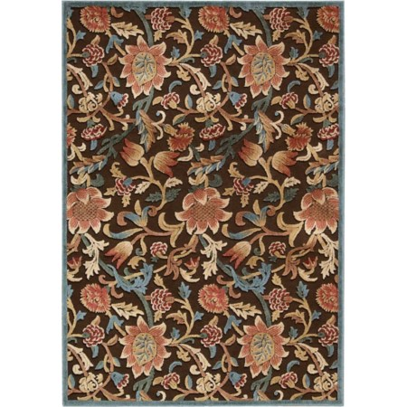 "7'9"" x 10'10"" Brown Rectangle Rug"