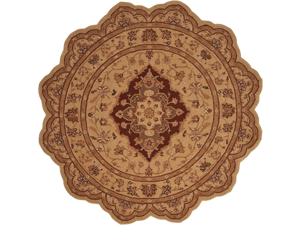 Nourison Heritage Hall6' x 6' Lacquer Free Form Rug