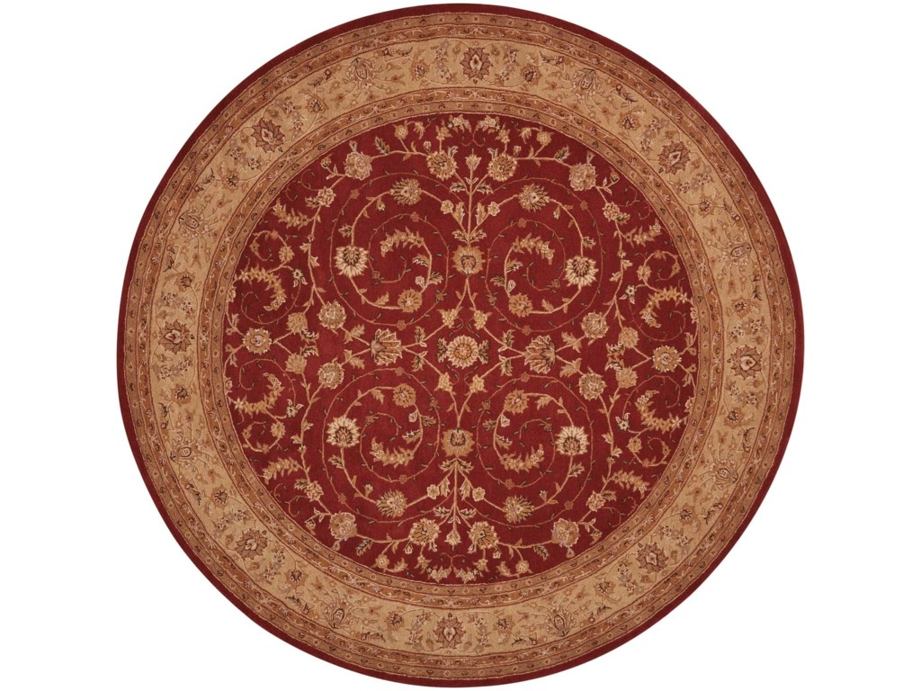 Nourison Heritage Hall9' x 9' Lacquer Round Rug