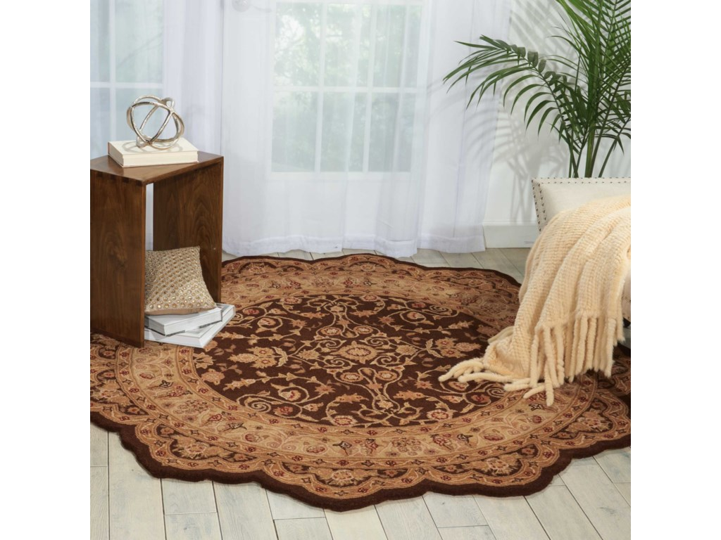 Nourison Heritage Hall8' x 8' Brown Free Form Rug