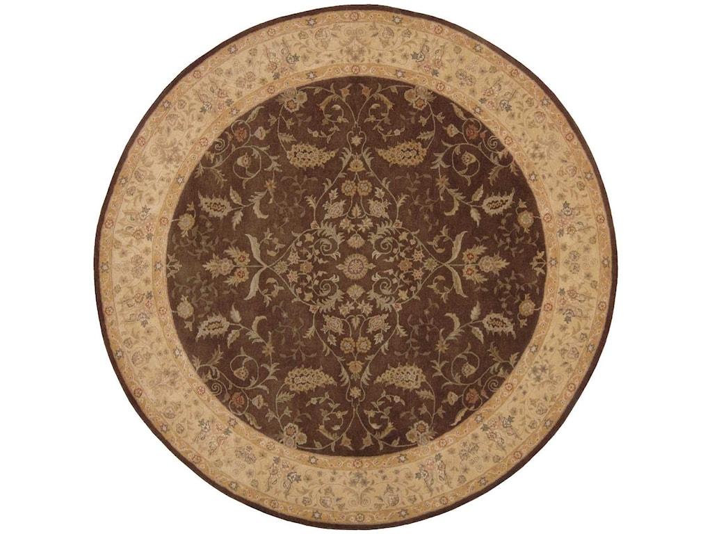Nourison Heritage Hall9' x 9' Brown Round Rug