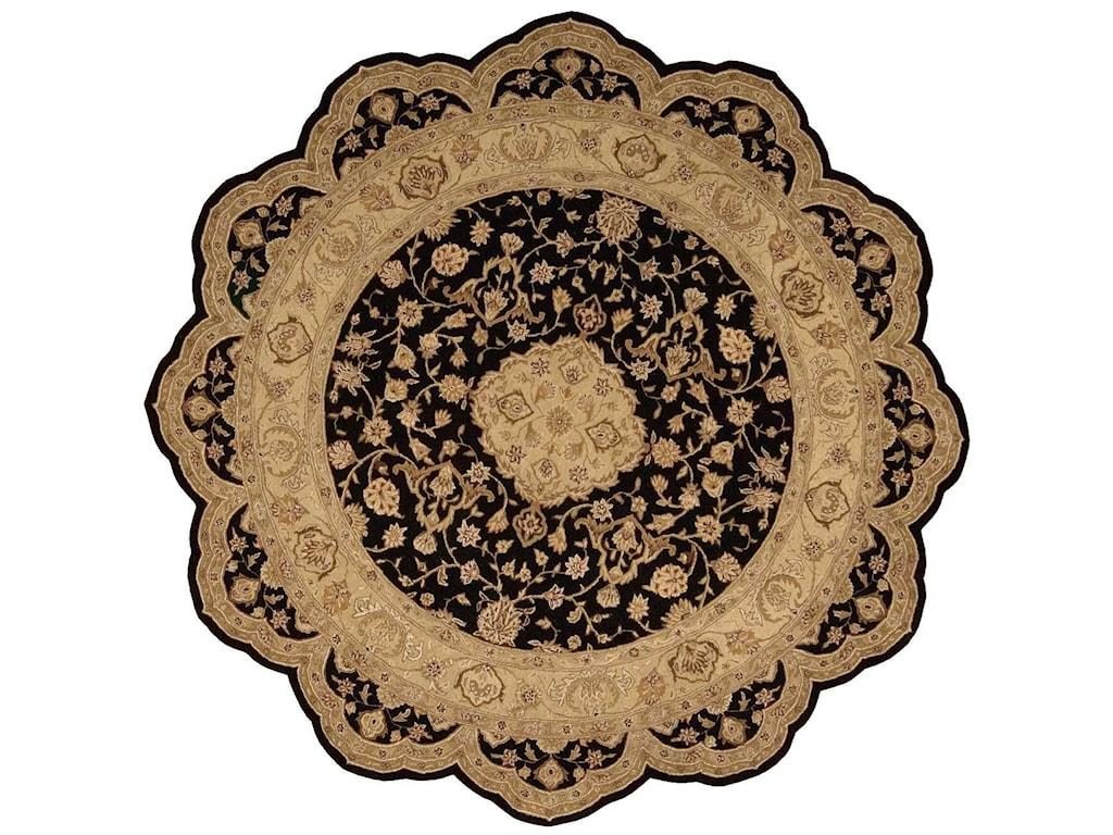 Nourison Heritage Hall8' x 8' Black Free Form Rug