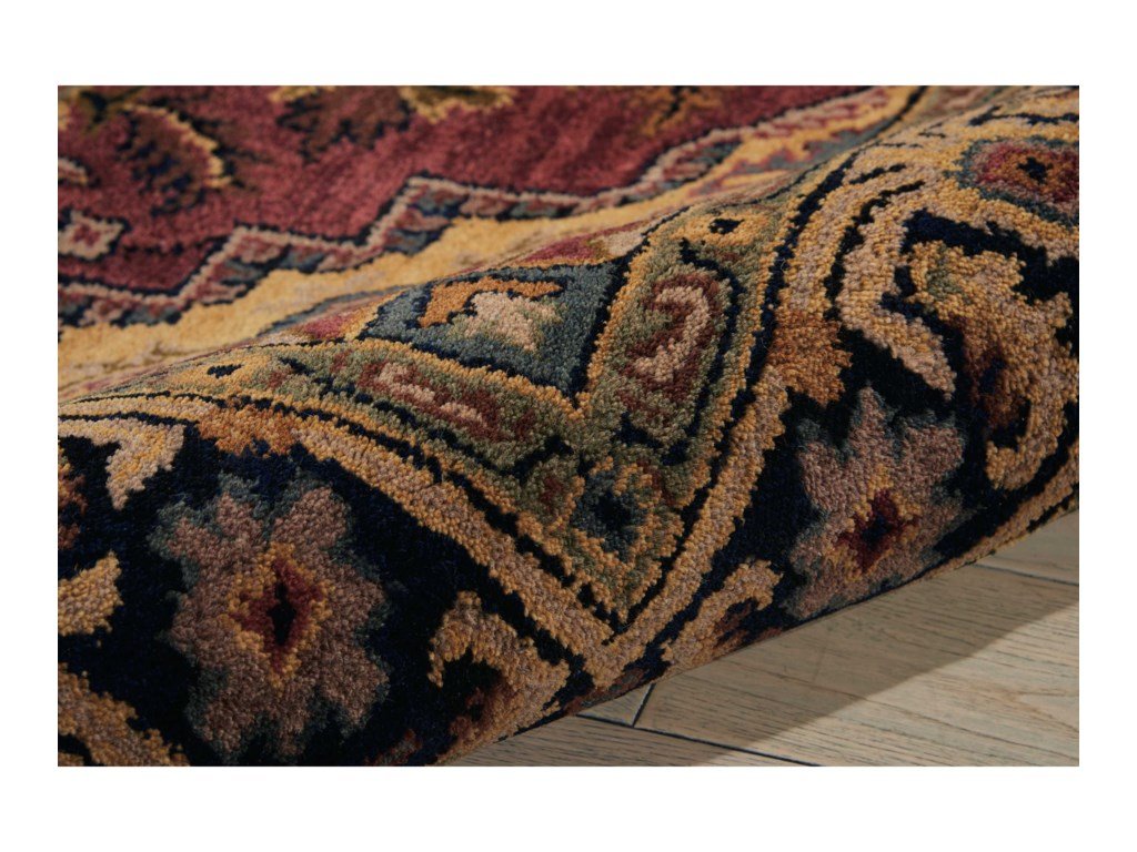 Nourison India House5' x 8' Rust Rectangle Rug
