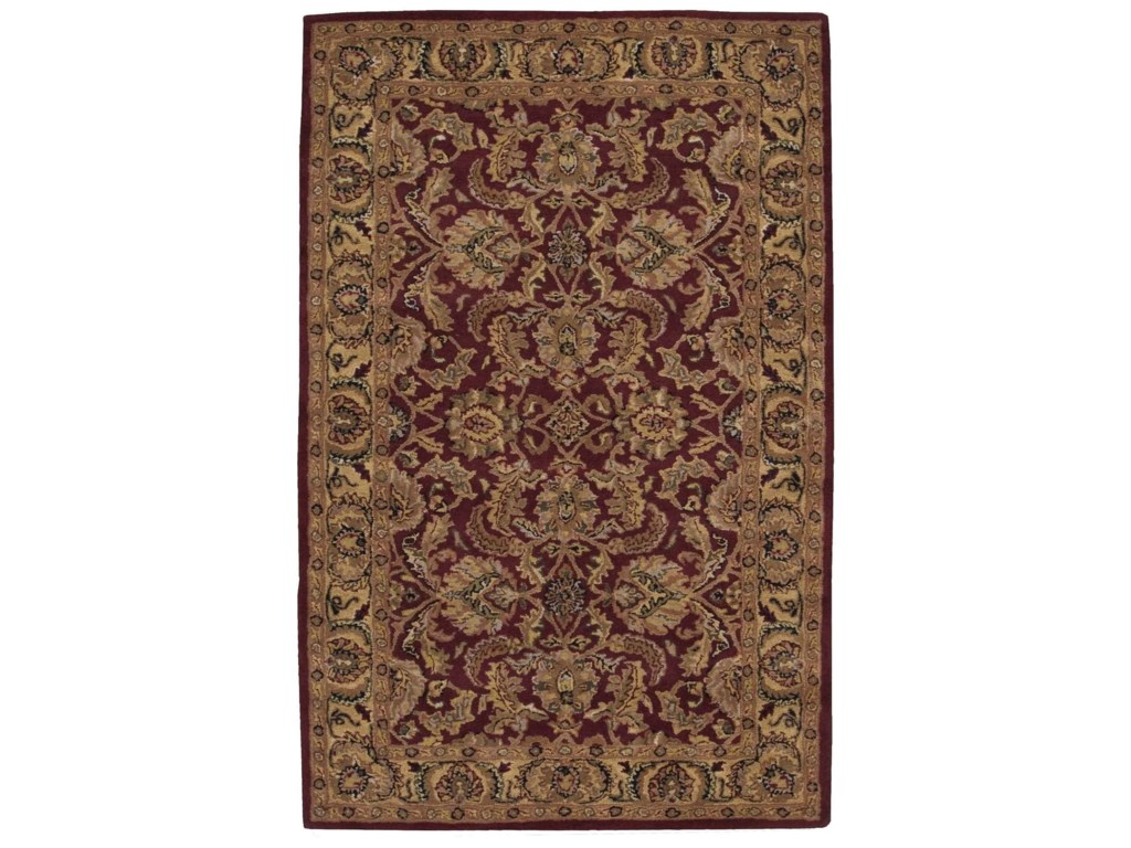 Nourison India House5' x 8' Burgundy Rectangle Rug