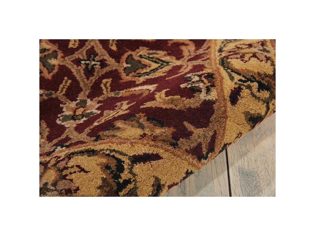 Nourison India House5' x 8' Burgundy Rectangle Rug