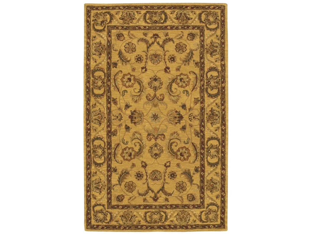 Nourison India House5' x 8' Gold Rectangle Rug