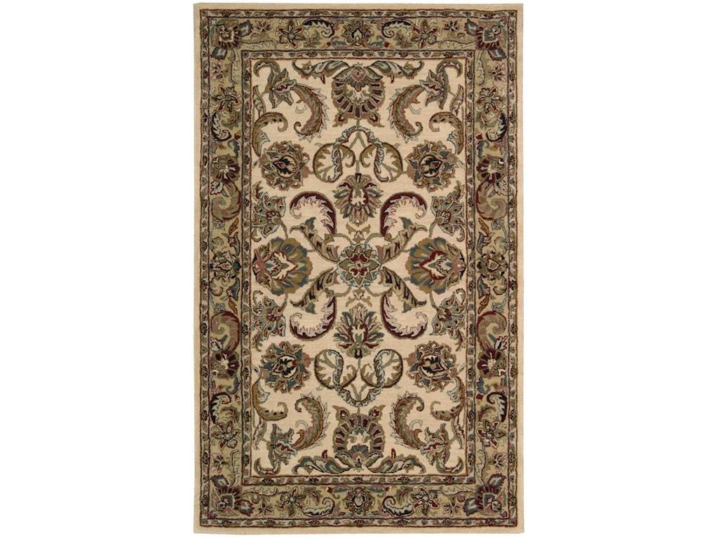 Nourison India House5' x 8' Ivory/Gold Rectangle Rug