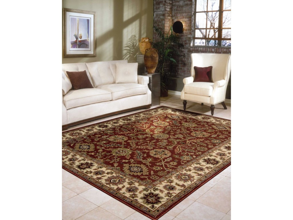 Nourison India House5' x 8' Brick Rectangle Rug