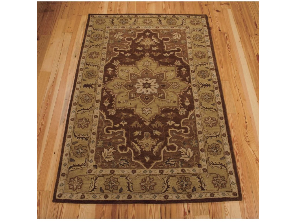 Nourison India House5' x 8' Chocolate Rectangle Rug