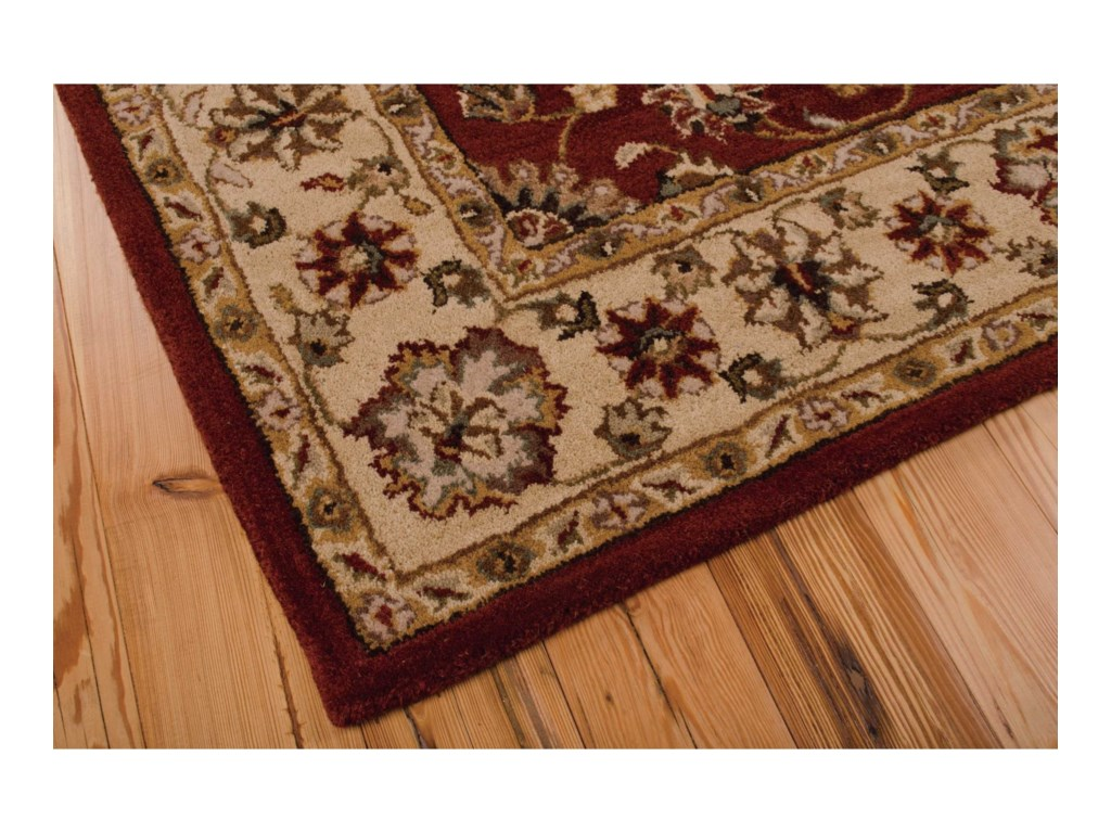 Nourison India House5' x 8' Red Rectangle Rug