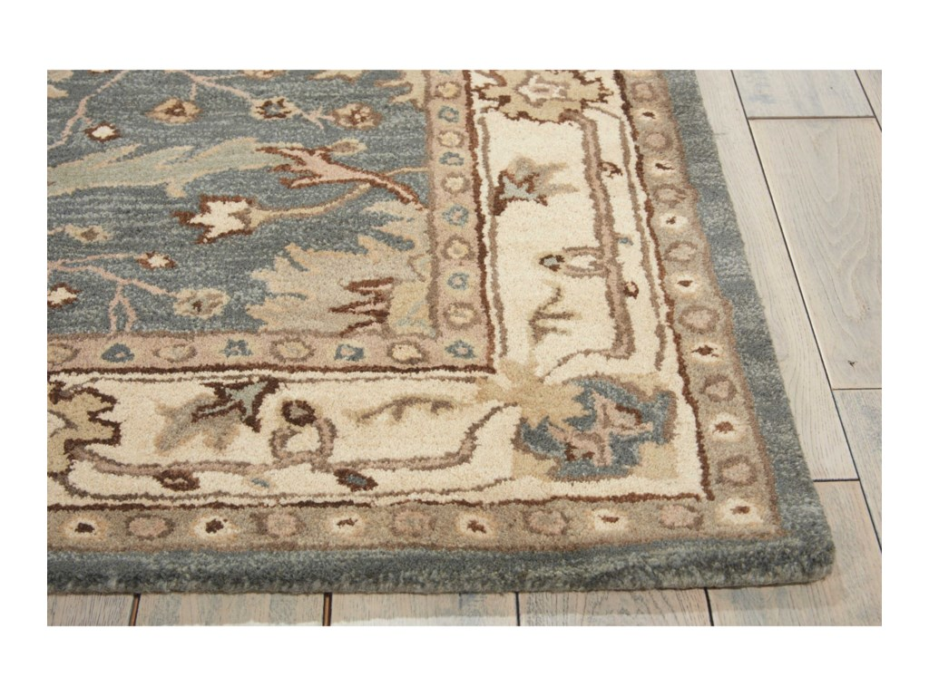 Nourison India House5' x 8' Blue Rectangle Rug