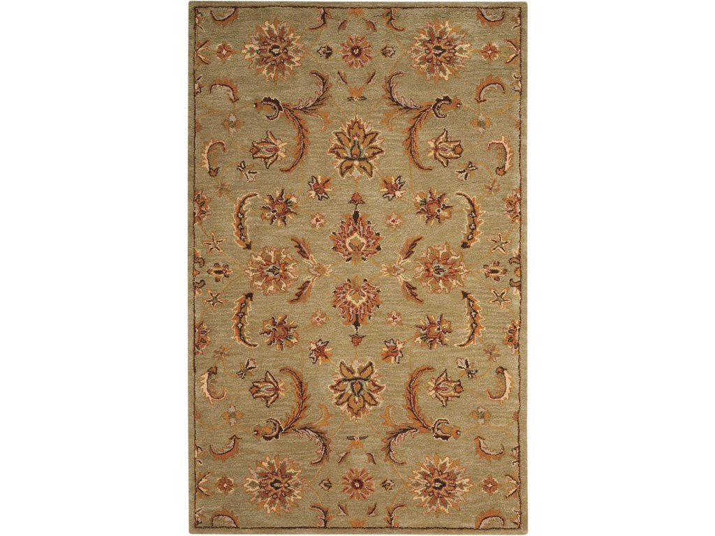 Nourison India House5' x 8' Light Green Rectangle Rug