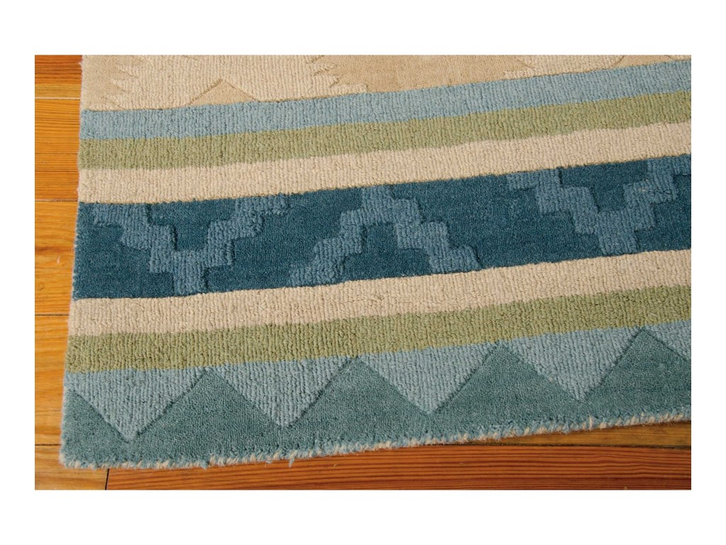 Nourison India House5' x 8' Blue Green Rectangle Rug