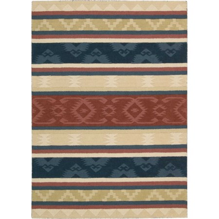 "2'6"" x 4' Multicolor Rectangle Rug"
