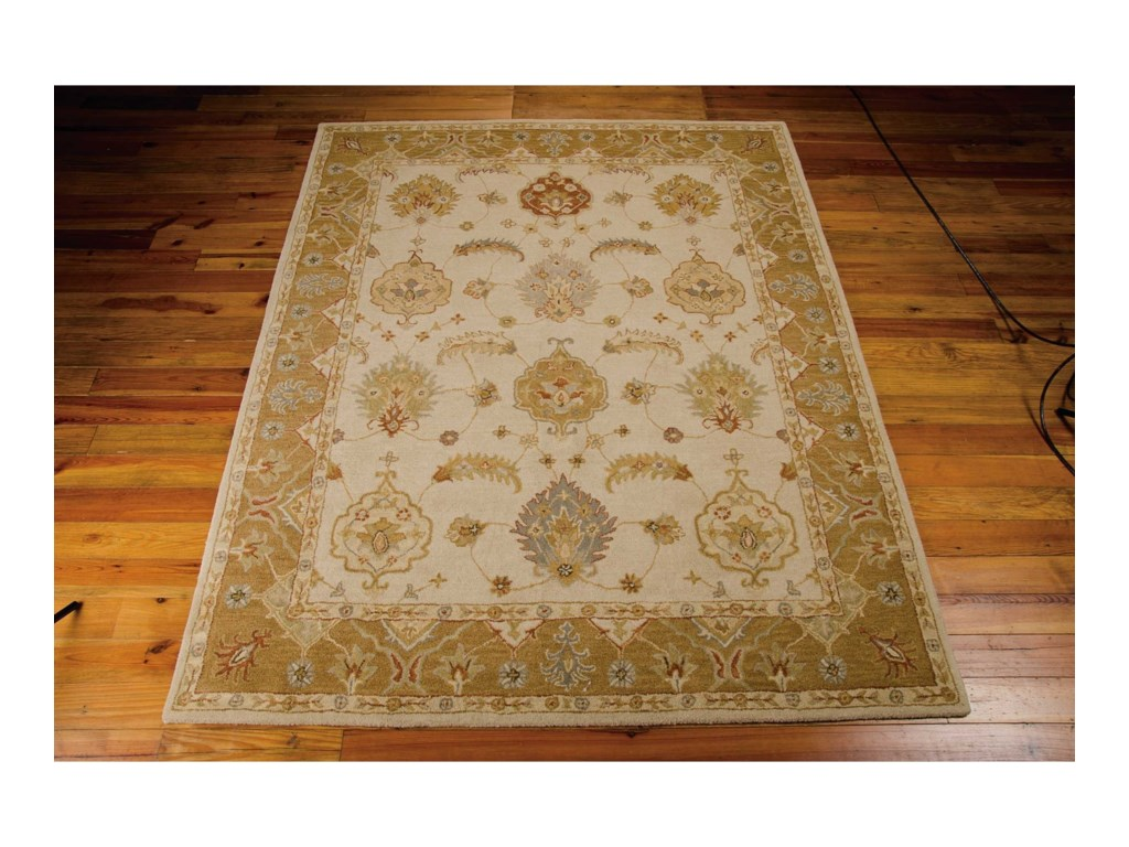 Nourison India House5' x 8' Ivory/Gold Rectangle Rug