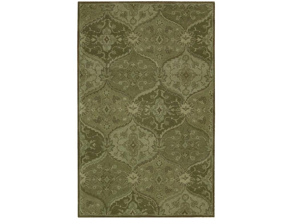 Nourison India House5' x 8' Green Rectangle Rug
