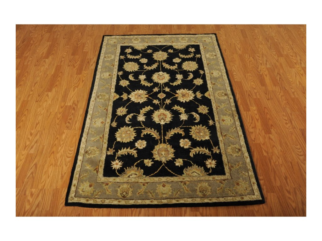 Nourison India House5' x 8' Black Rectangle Rug