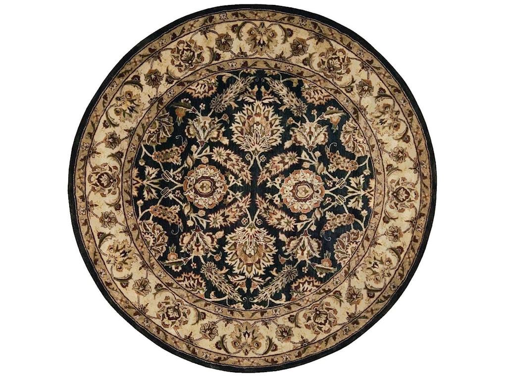 Nourison Jaipur6' x 6' Black Round Rug