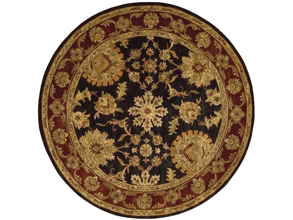 Nourison Jaipur8' x 8' Black Round Rug